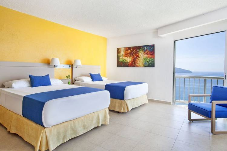 Standard twin sea view room calinda beach acapulco hotel